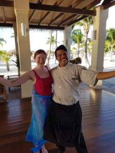 Alex, the chef with the ocean view, cooked me 2 celiac-friendly meals each day